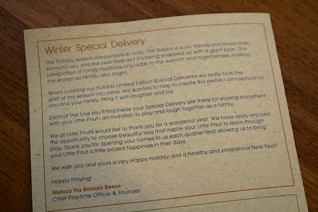 Note about Winter Delivery