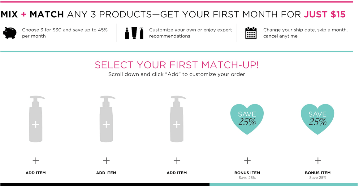 Match subscription prices