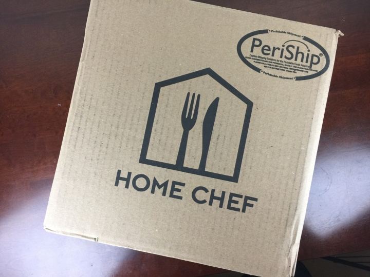 Home Chef Box April 2016 box