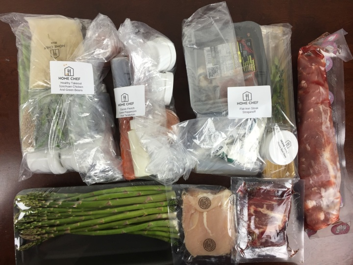 Home Chef Box April 2016 review