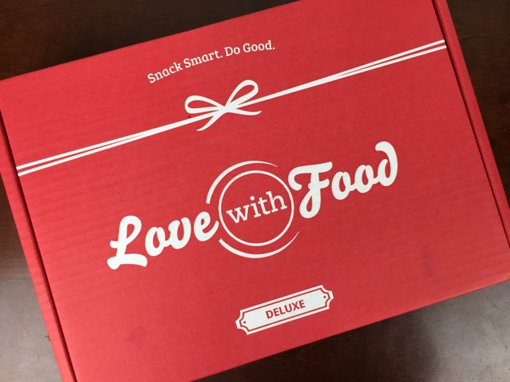 Love With Food Deluxe Box April 2016 box