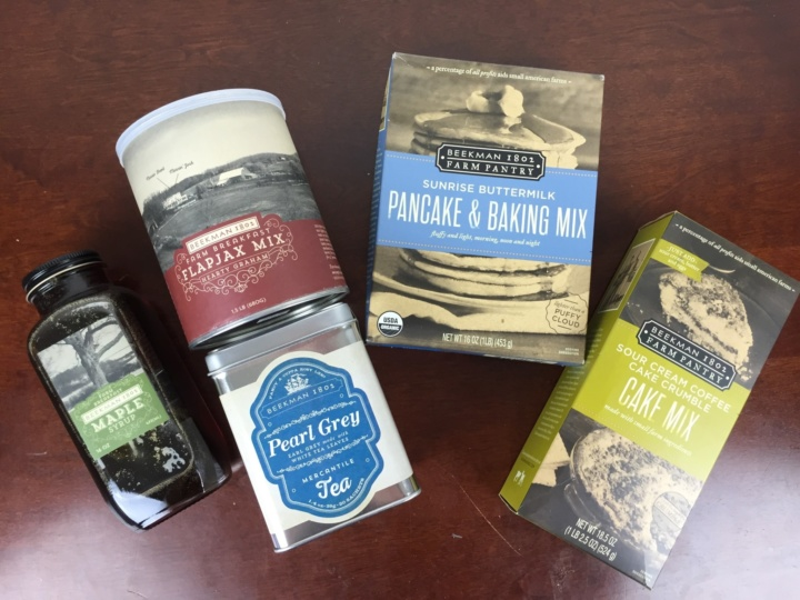 Beekman 1802 Specialty Food Club Box May 2016 review