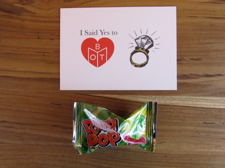 The proposal and Ring Pop!