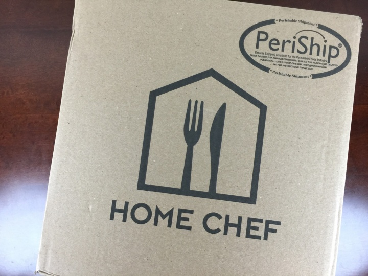 Home Chef Box May 2016 box