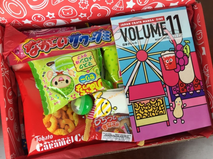 Japan Crate May 2016 unboxed
