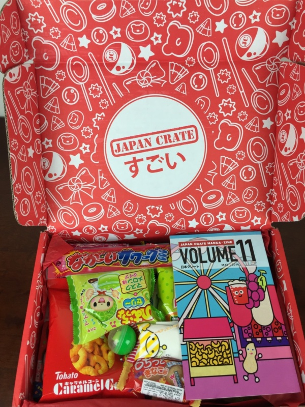 Japan Crate May 2016 unboxing