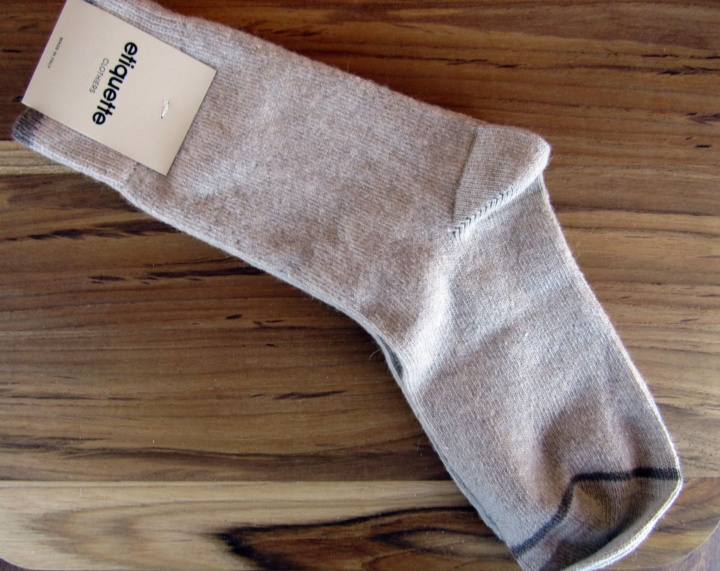 """Lots of Cash"" - Ivory Cashmere SOcks"