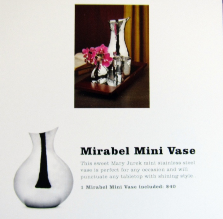 Mary Jurek Designs Inc Mirabel Mini Vase