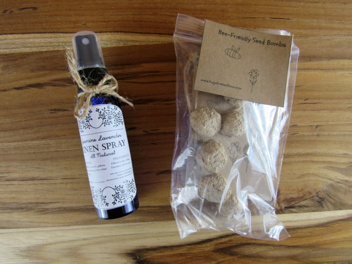 Jasmine Lavender Linen Spray and Bee Friendly Seed Bombs