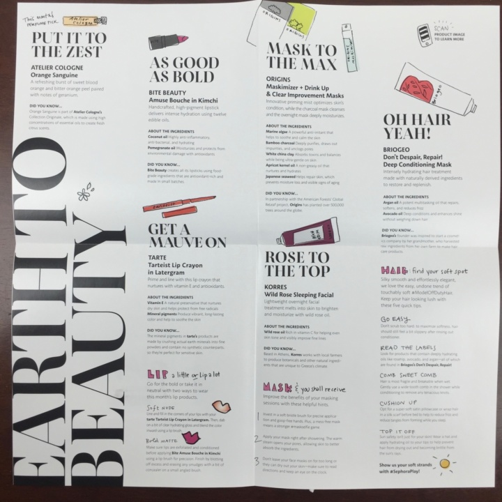 Sephora Play Box May 2016 (2)