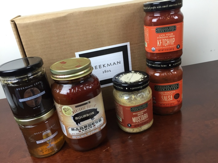 Beekman 1802 Specialty Food Club Box June 2016 review