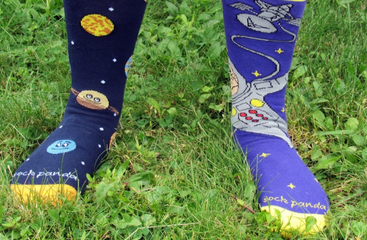 Check out the socks!