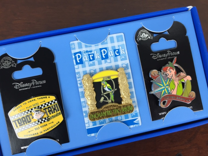 disney park pack pin trading box june 2016 review