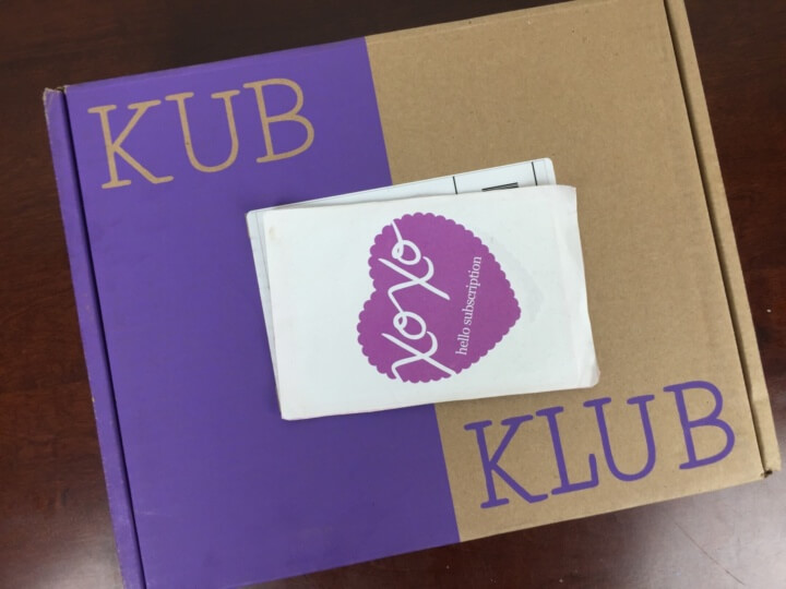 Kub Klub Box June 2016 box