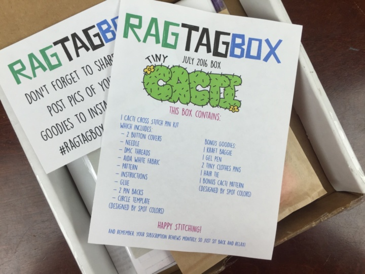 Rag Tag Box July 2016 unboxing