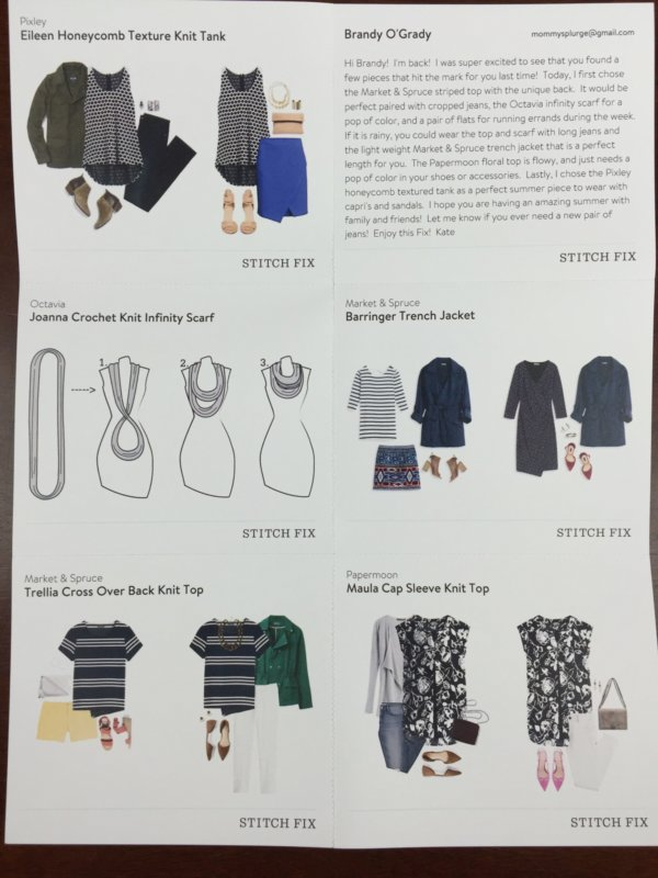 Stitch Fix Box August 2016 (2)