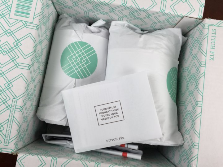 Stitch Fix Box August 2016 unboxing