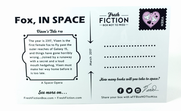 Fresh fiction box march 2017 subscription box review coupon this is the flip side of the postcard fandeluxe Images
