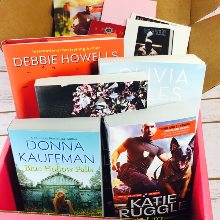 Fresh fiction box july 2017 subscription box review coupon hello im always surprised at how heavy this box is when i pull it out of the mailbox i received 1 hardback 4 paperbacks codes for 3 ebooks 1 tea bag fandeluxe Choice Image