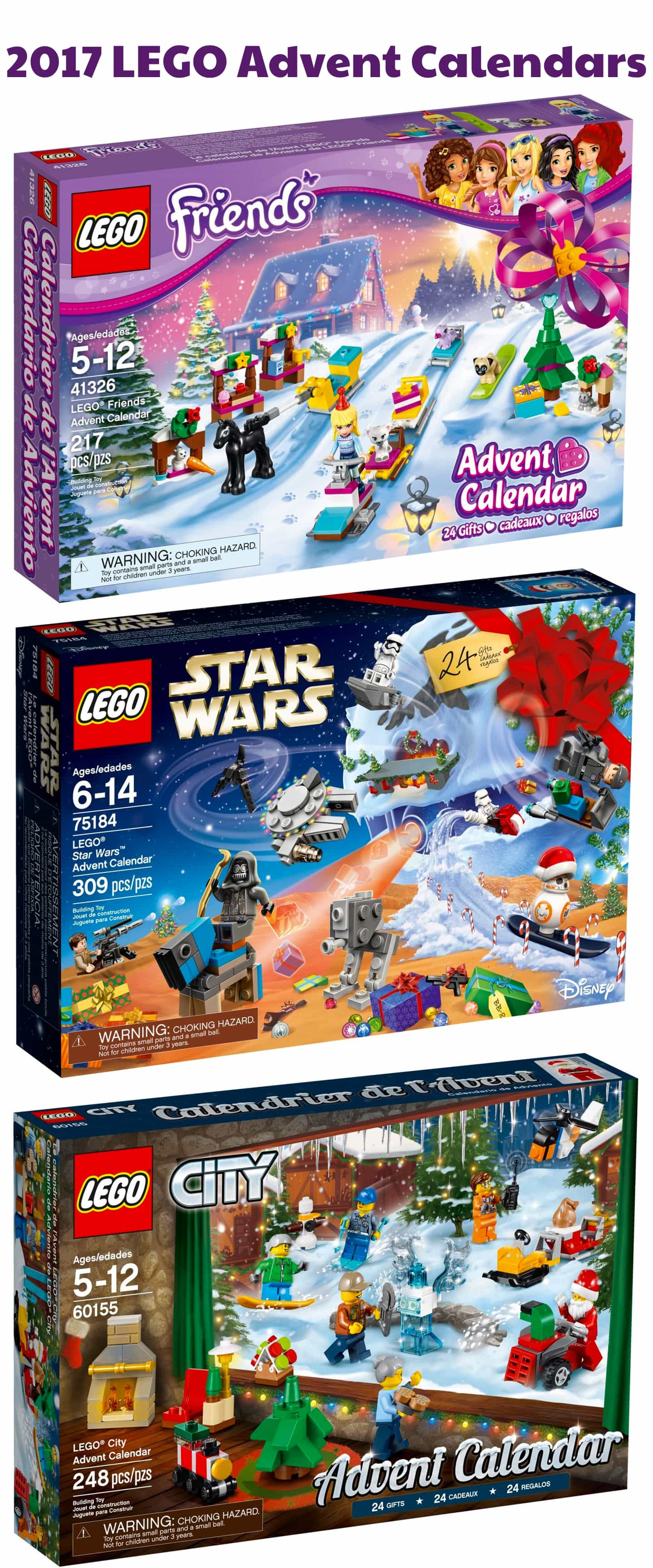 Lego 2017 advent calendars coming soon star wars friends city all three lego advent calendars for 2017 are coming soon lego advent calendars are undeniably the hottest advent calendars for all ages all over the globe voltagebd Choice Image