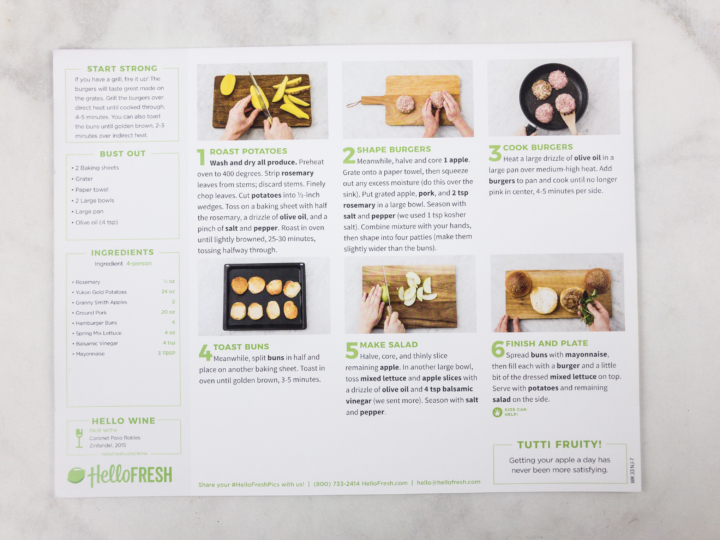 Each Hello Fresh Recipe Has Its Own Lovely Card With A Picture Of The  Plated Dish, Prep Time And Total Time To Table, Calorie Count, And A Visual  Inventory ...