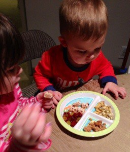 Tasting plates help little ones try new things!