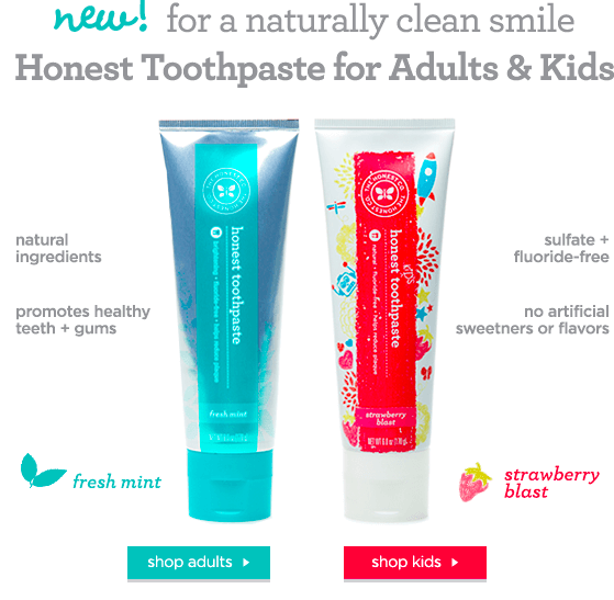 New Honest Company Product: Adult and Kids Toothpaste