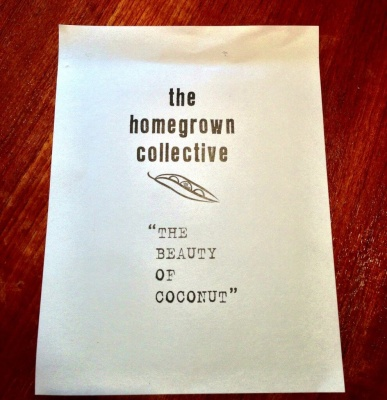 homegrown collective july beauty of coconut