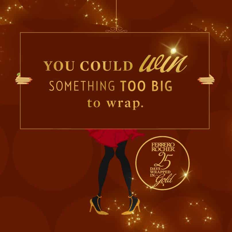 Ferrero Rocher 25 Days Wrapped in Gold Holiday Giveaway!