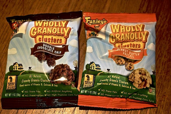 Funley's Wholly Granolly Clusters Double Chocolate Chip and Peanut Butter Pretzel