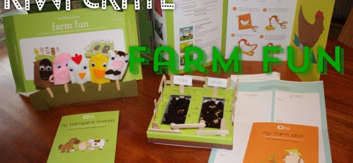 Kiwi Crate May 2014 Farm Fun Review & $10 Coupon + Kiwi Crate Summer Adventure Series Preview!
