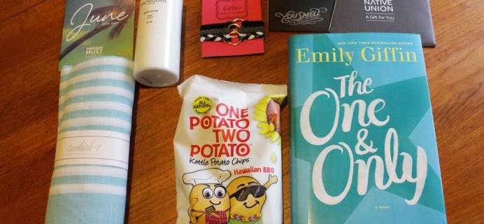 June 2014 Popsugar Must Have Box Review + Coupon Code + Giveaway!