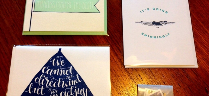 Nicely Noted Greeting Card Subscription Review – July 2014