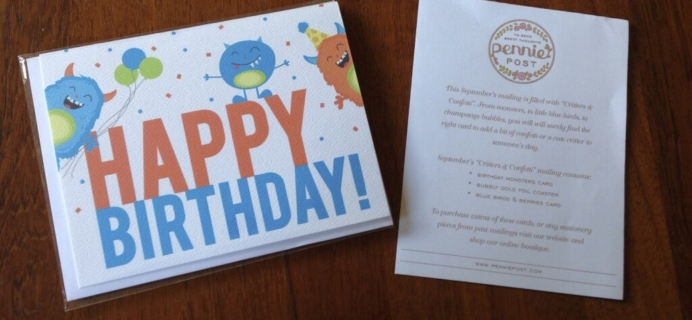 September Pennie Post Review + October Spoilers! – Stationery Subscription
