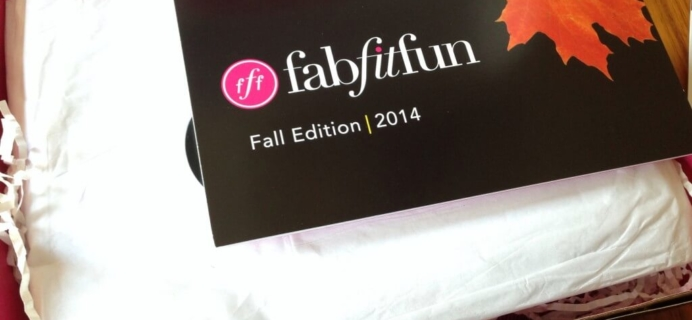 FabFitFun VIP Fall 2014 Subscription Box Review + $10 Coupon