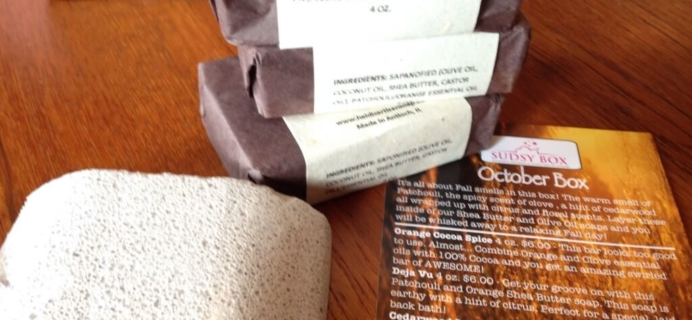 October 2014 Sudsy Box Review – Soap & Spa Subscription Box