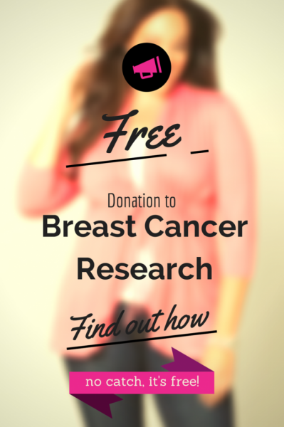 breast cancer research donation