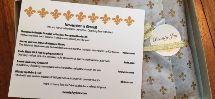 Beauty Joy Subscription Box Review + Coupon