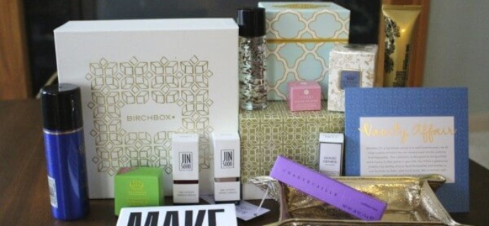 Birchbox Vanity Affair Holiday Limited Edition Box Review & Coupon