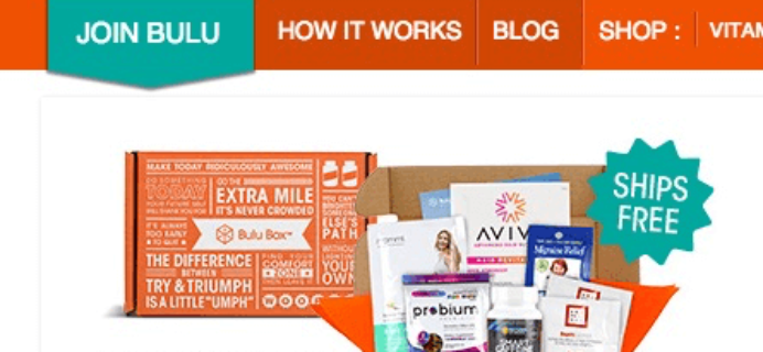 Bulu Box Cyber Monday Coupon & Deal – Health Subscription Box