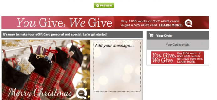 QVC Bonus Gift Card Offer!