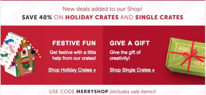 Kiwi Crate Cyber Monday Shop Coupon + Deals