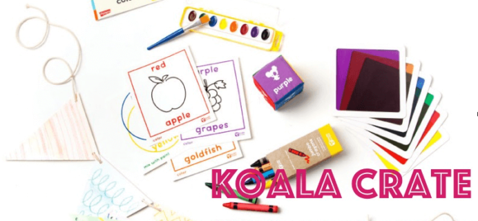 Koala Crate Preschooler Subscription Box Cyber Monday Coupon
