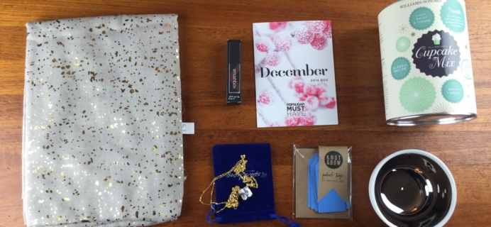 December 2014 Popsugar Must Have Box Review + $15  Coupon #musthavebox