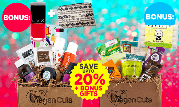 Vegan Cuts Cyber Monday Beauty + Snack Subscription Box Deals