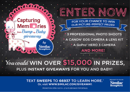 #SimilacStrongMoms Capturing Memories from Bump to Baby Giveaway!