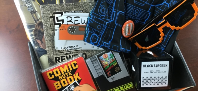 January 2015 Loot Crate Review + Promo Code #lootcrate