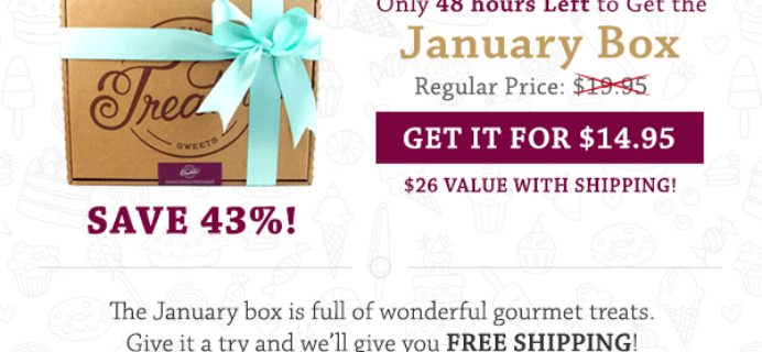 Free Shipping on January Treatsie Box Coupon – Ends Tuesday!