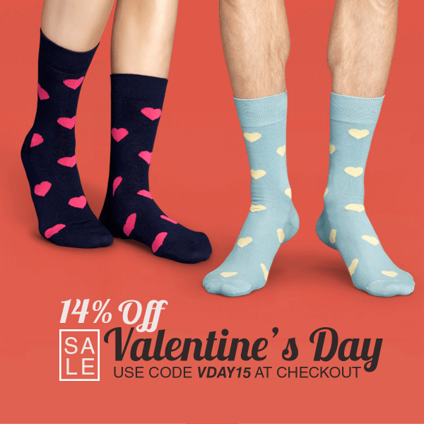 Sock Fancy Valentine's Day Coupon – Save 15%