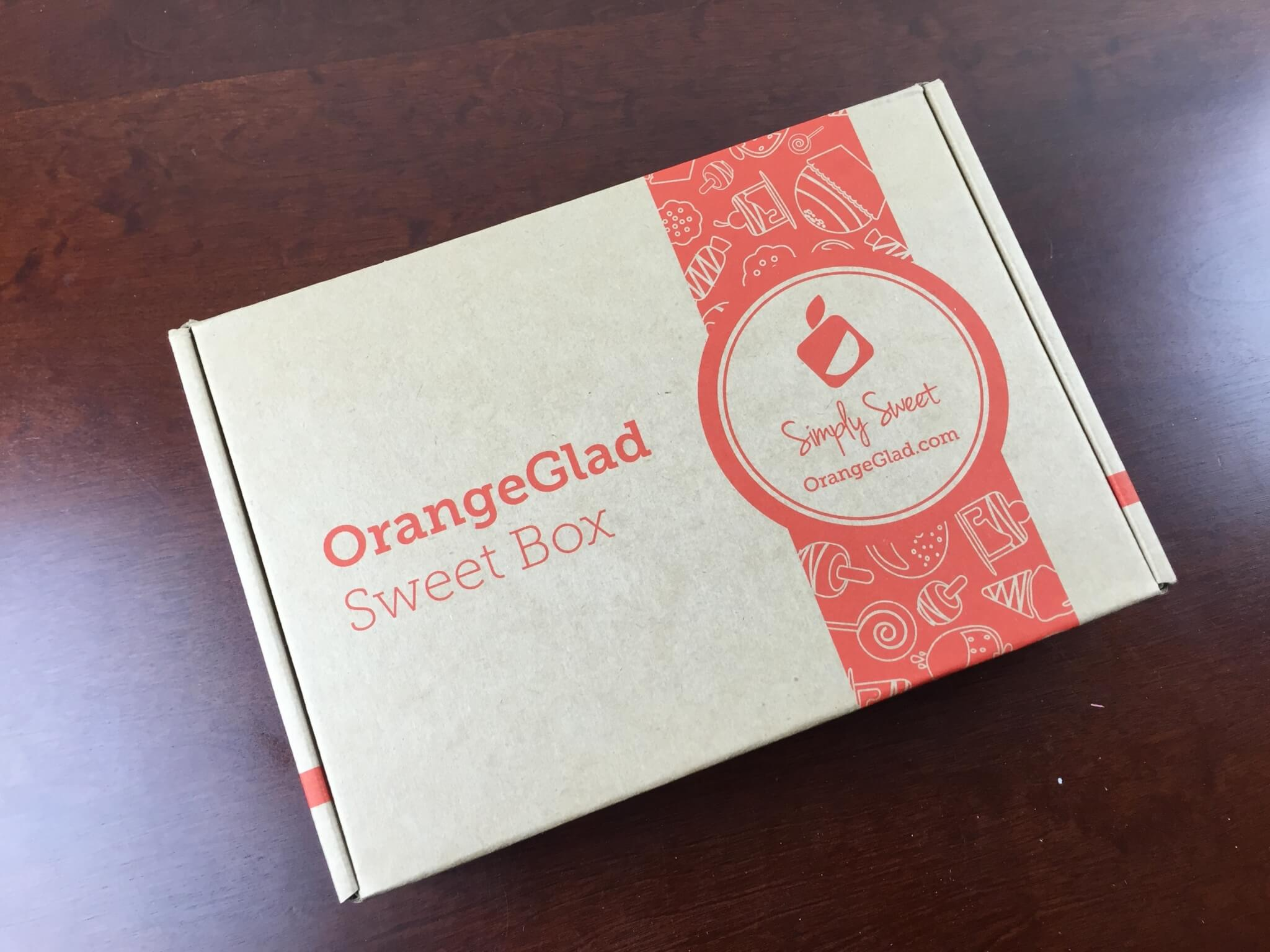 Orange Glad Review & 30% Off Coupon – Dessert Subscription Box – March 2015